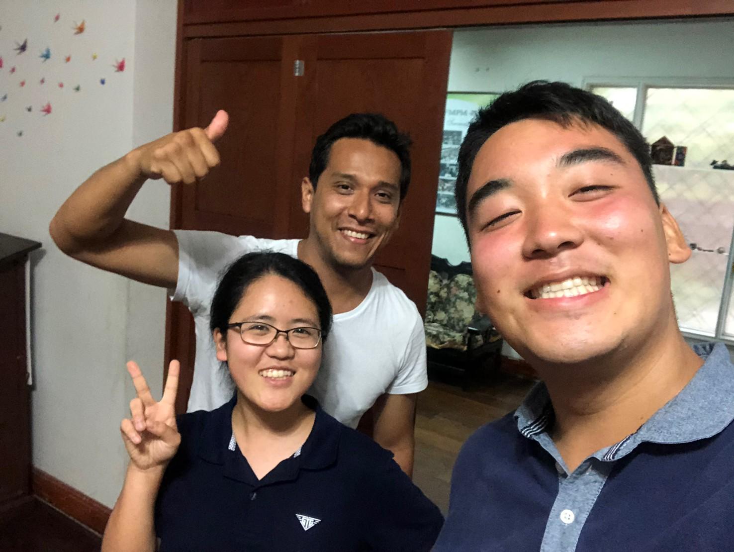 Fuyu Fujioka and Sotetsu Honda with Cristian Llanos!