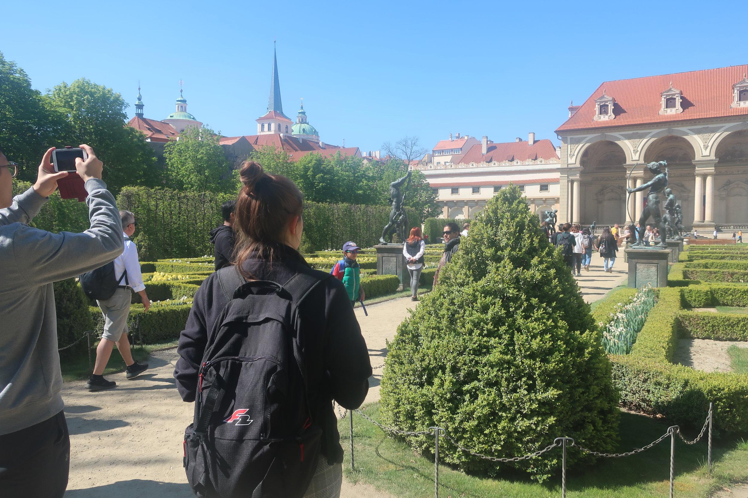 Visiting hidden gardens around Prague Castle