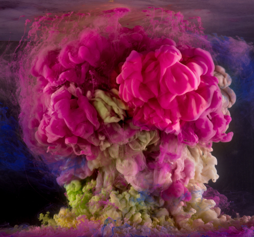 Kim Keever's  Abstract 6767 , 2014, on view at Pulse, New York