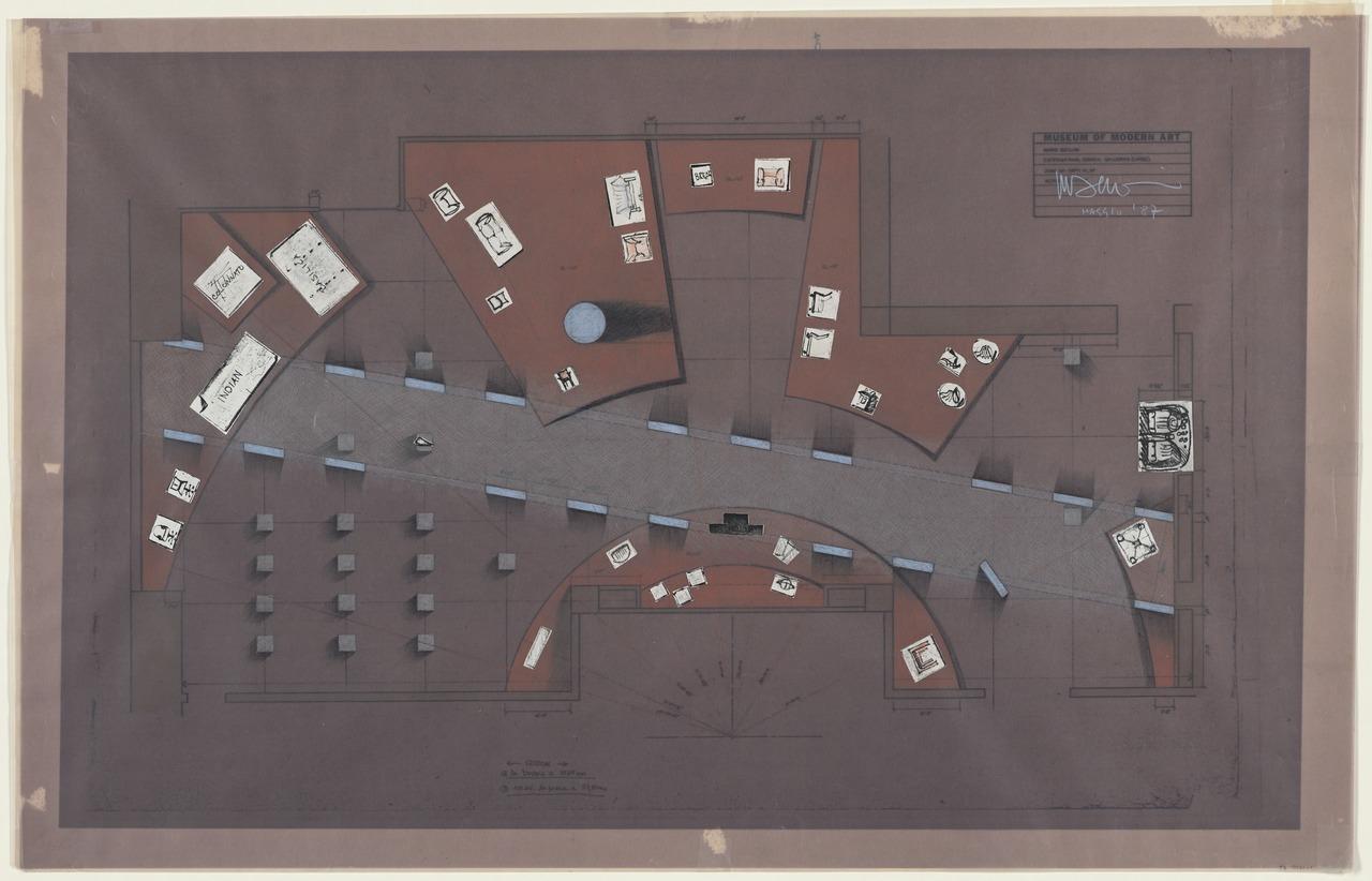 "Exhibition ""Mario Bellini: Designer."", The Museum of Modern Art, New York, 1987, Installation plan 1987"