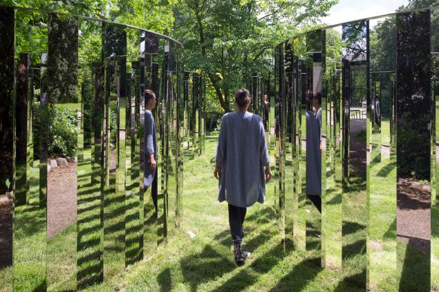 Jeppe Hein,  Mirror Labyrinth , 2007