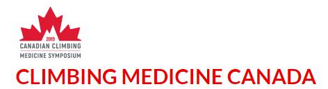 Canadian Climbing Medical Symposium - August 12-14, 2019Squamish, BC