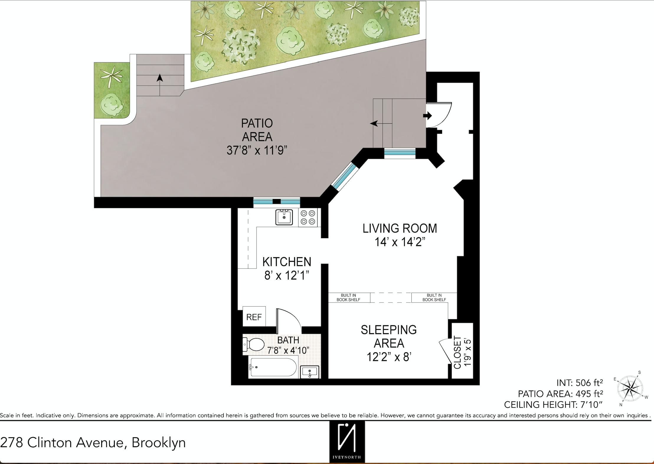 278 Clinton Avenue 1B Plan.png