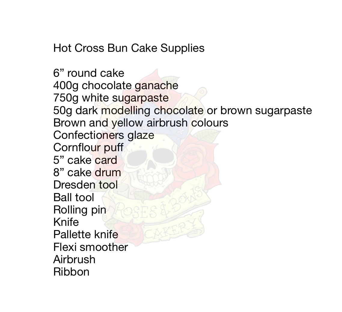 Hot Cross Bun Supplies List