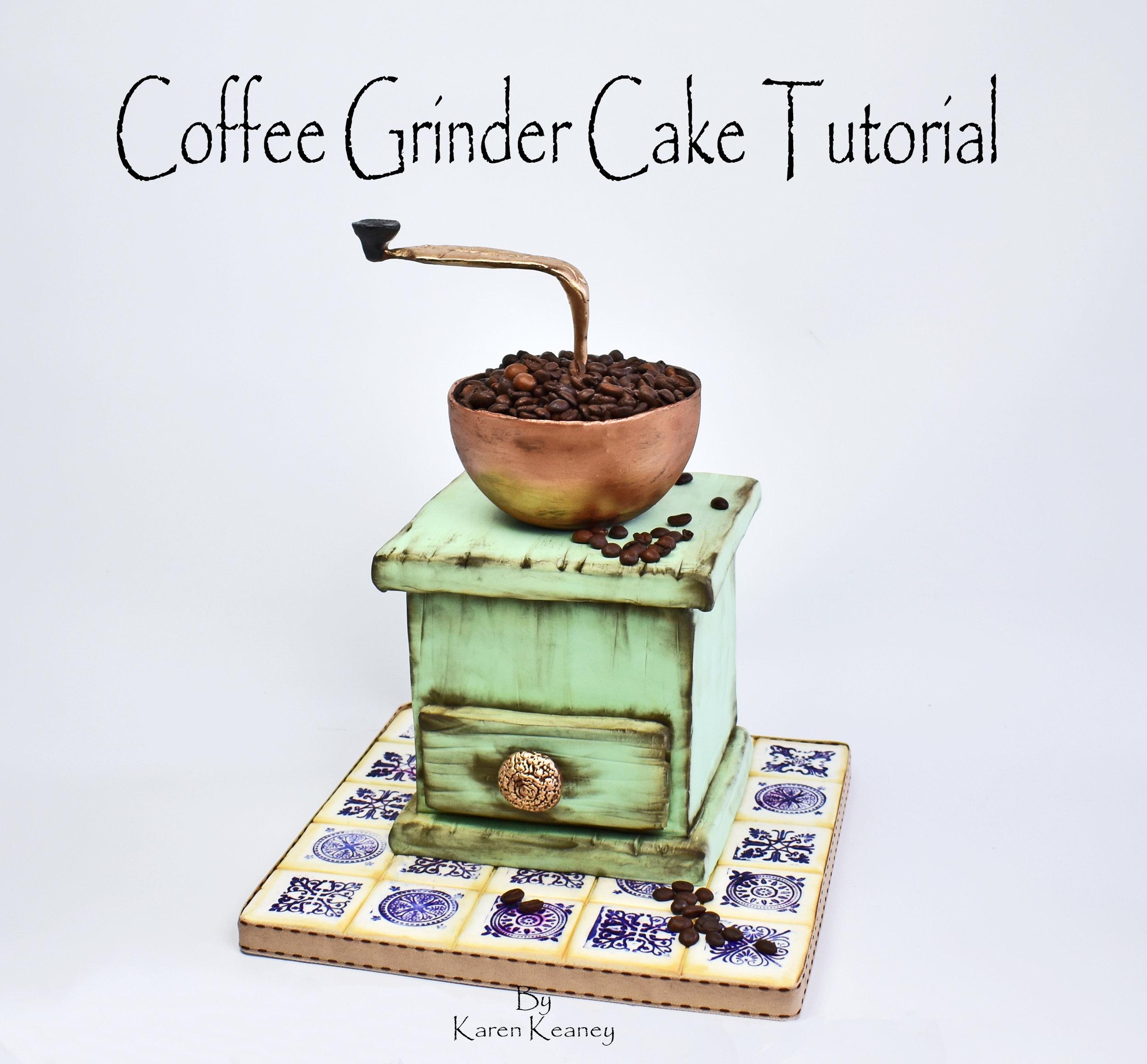 Coffee Grinder Cake Tutorial