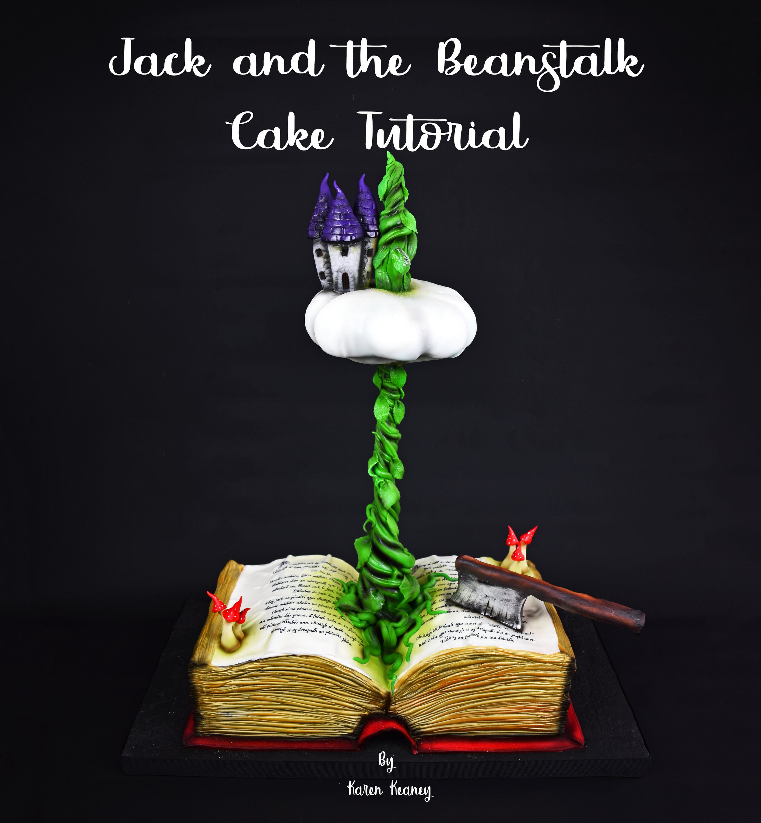 Jack and the Beanstalk Cake Tutorial
