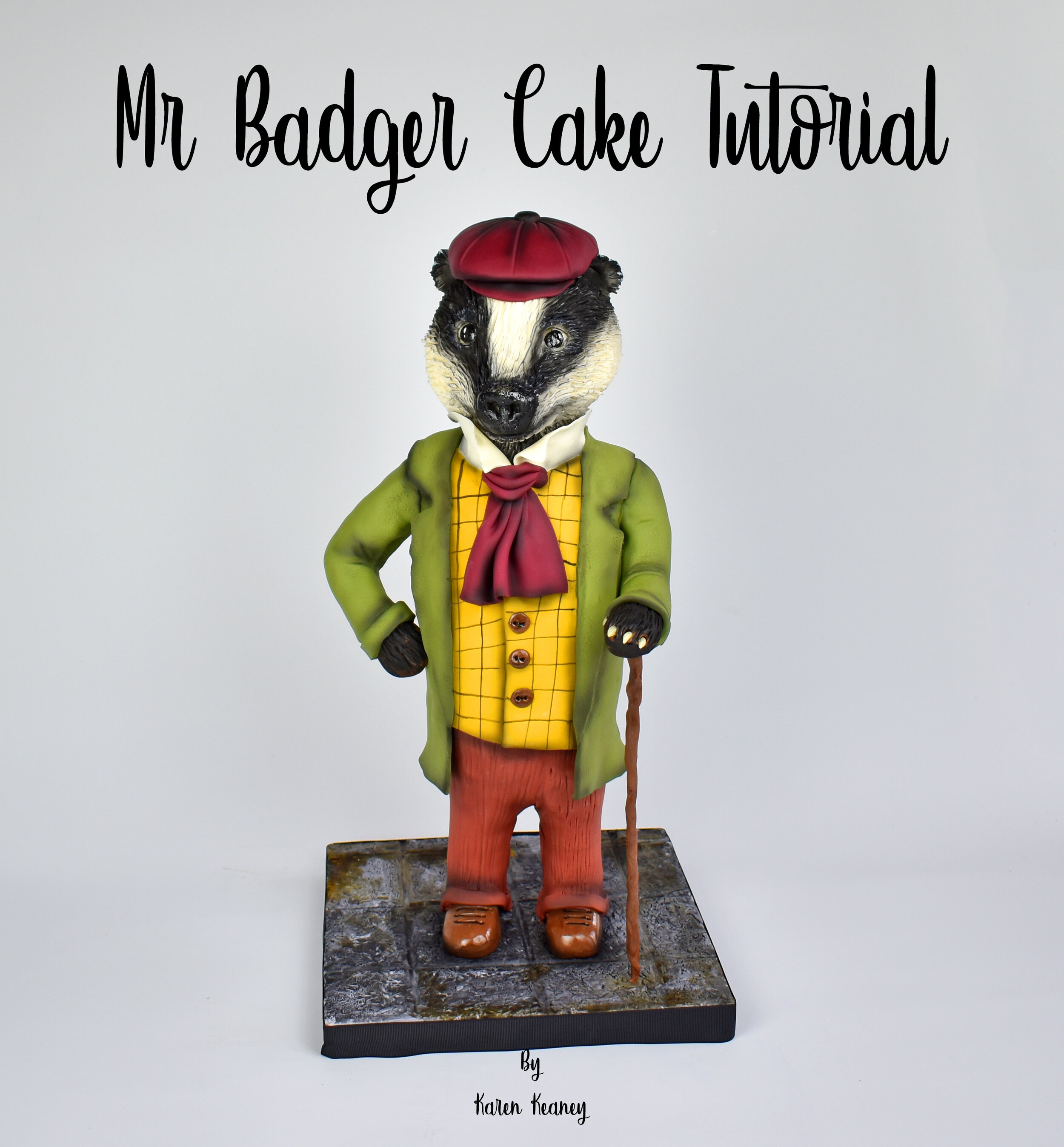 Mr. Badger Cake Tutorial