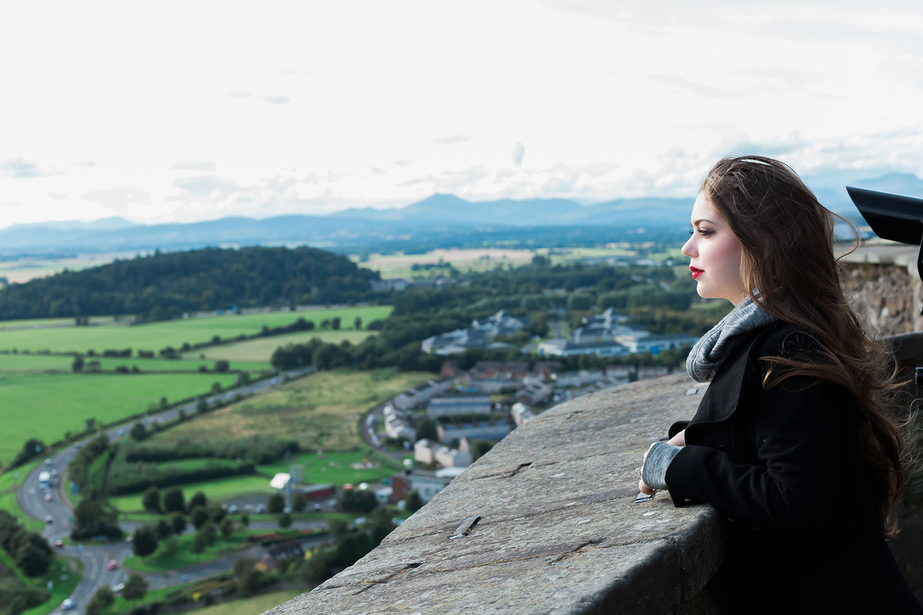 2017 Overlooking Scotland from the castle walls