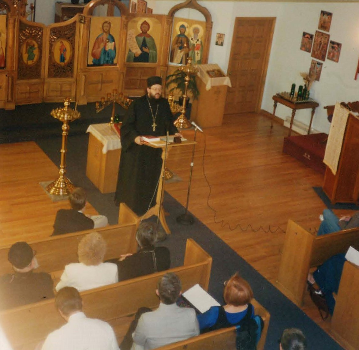 Fr. Alexander (now Bishop Alexander) speaking at a conference at Ss. Cyril and Methodius