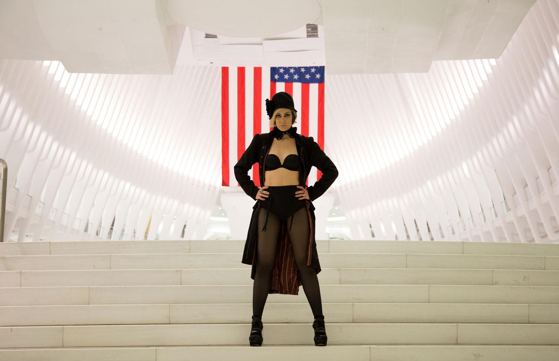 rebecca martos at WTC Transportation Hub, NYC