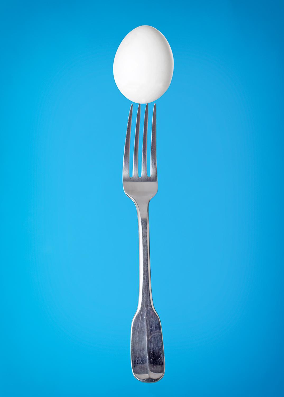 fork & egg