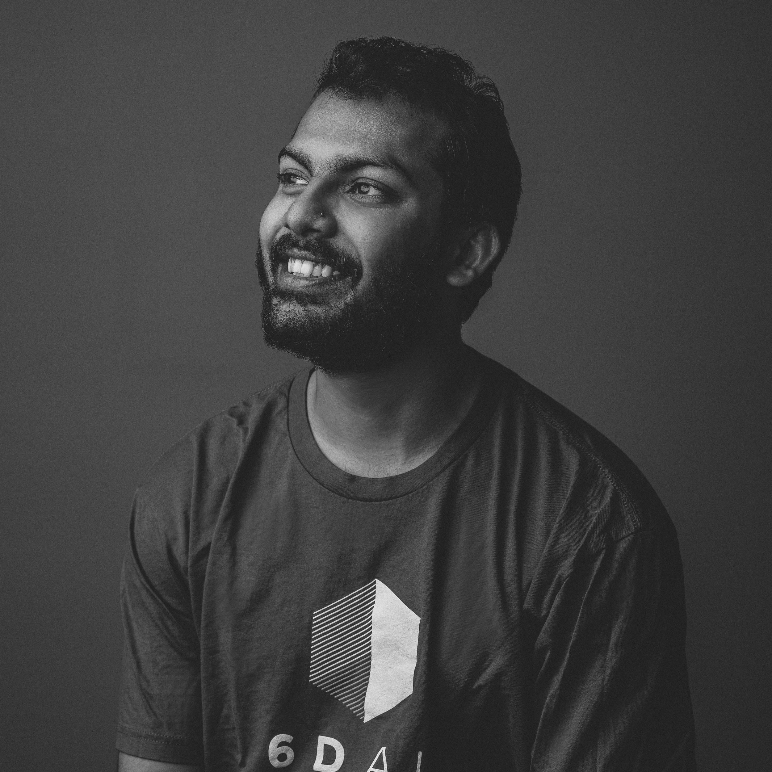 RIK BASU   ENGINEER, PLATFORM APPS  Rik builds our sample apps on platforms such as Unity, and is the first person to use & test our APIs before they ship. Before joining 6D, he spent several years building Tango apps for a large industrial manufacturer.