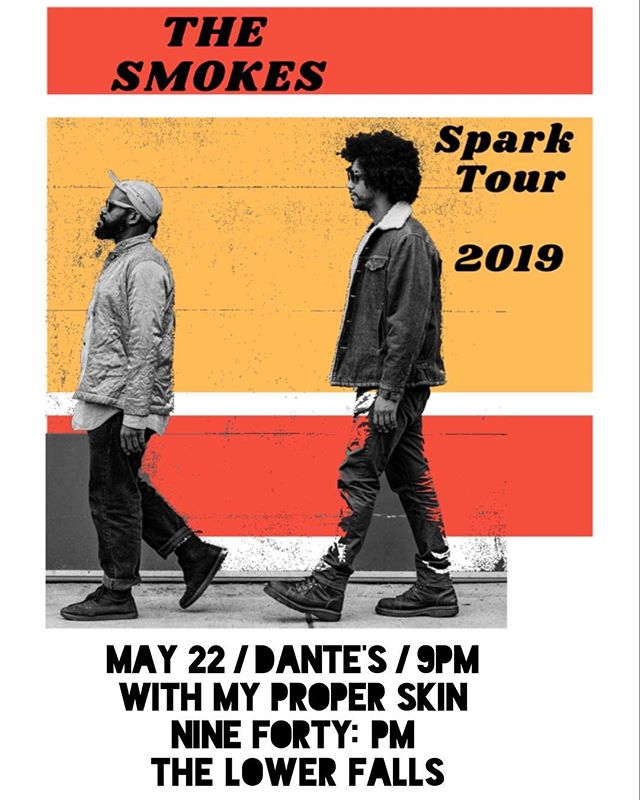 Looking forward to supporting @thesmokesrock from Minneapolis on 5/22 @dantesportland save the date 🔥  #pdx #pdxshows #rock #indie #tour