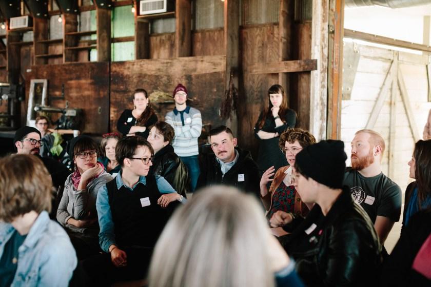 Participants asking questions. Photo by Justine Bursoni.