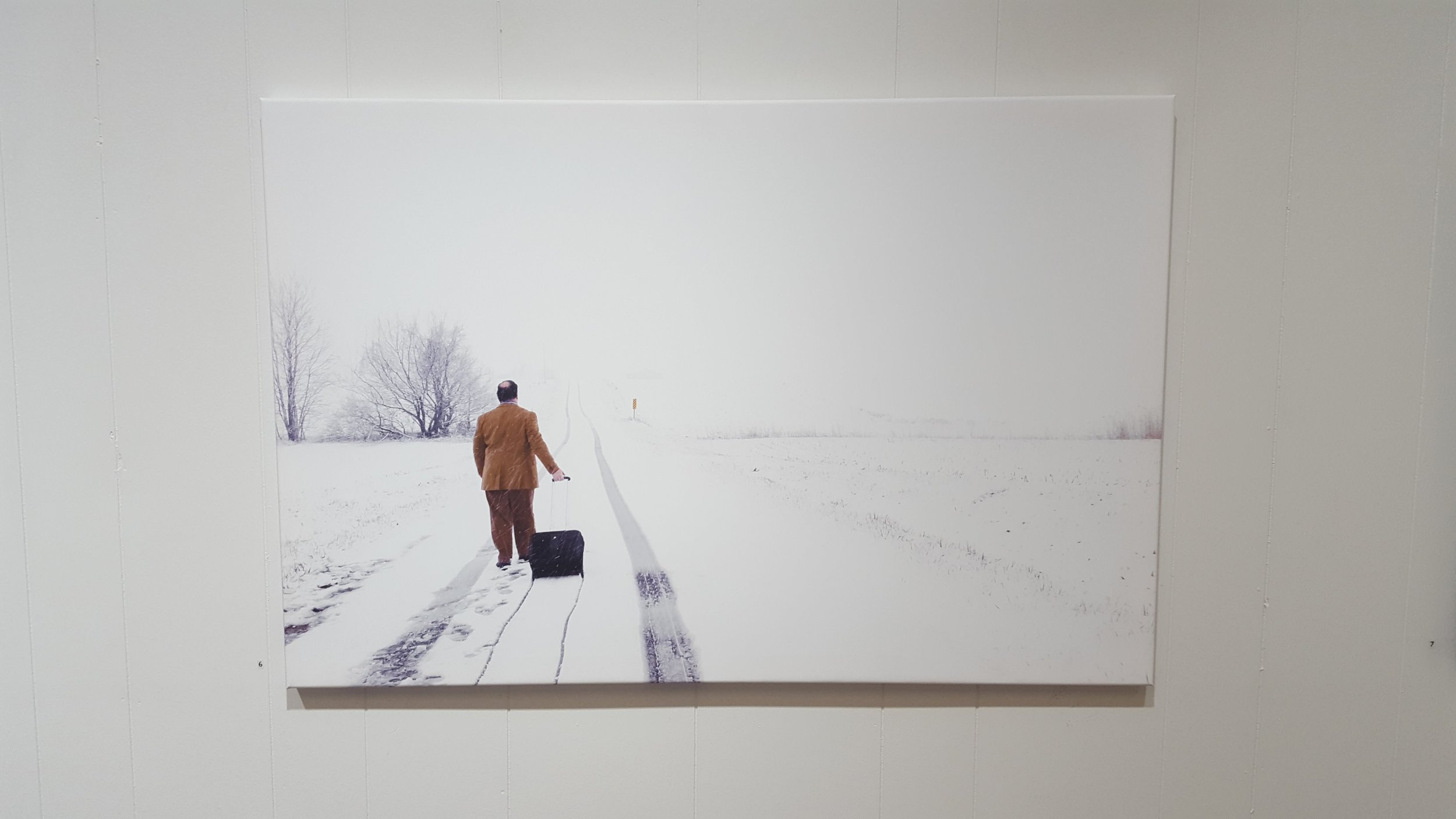 Installation view: No Snow Days , 2018. Image courtesy of Edward Breitweiser.