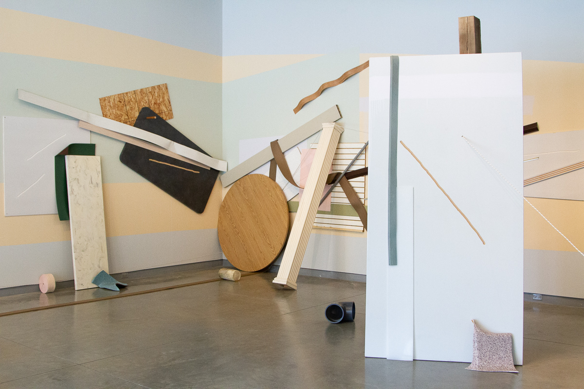 Standing Arrangement  (Installation View), 2019. Image courtesy of University Galleries of Illinois State University.