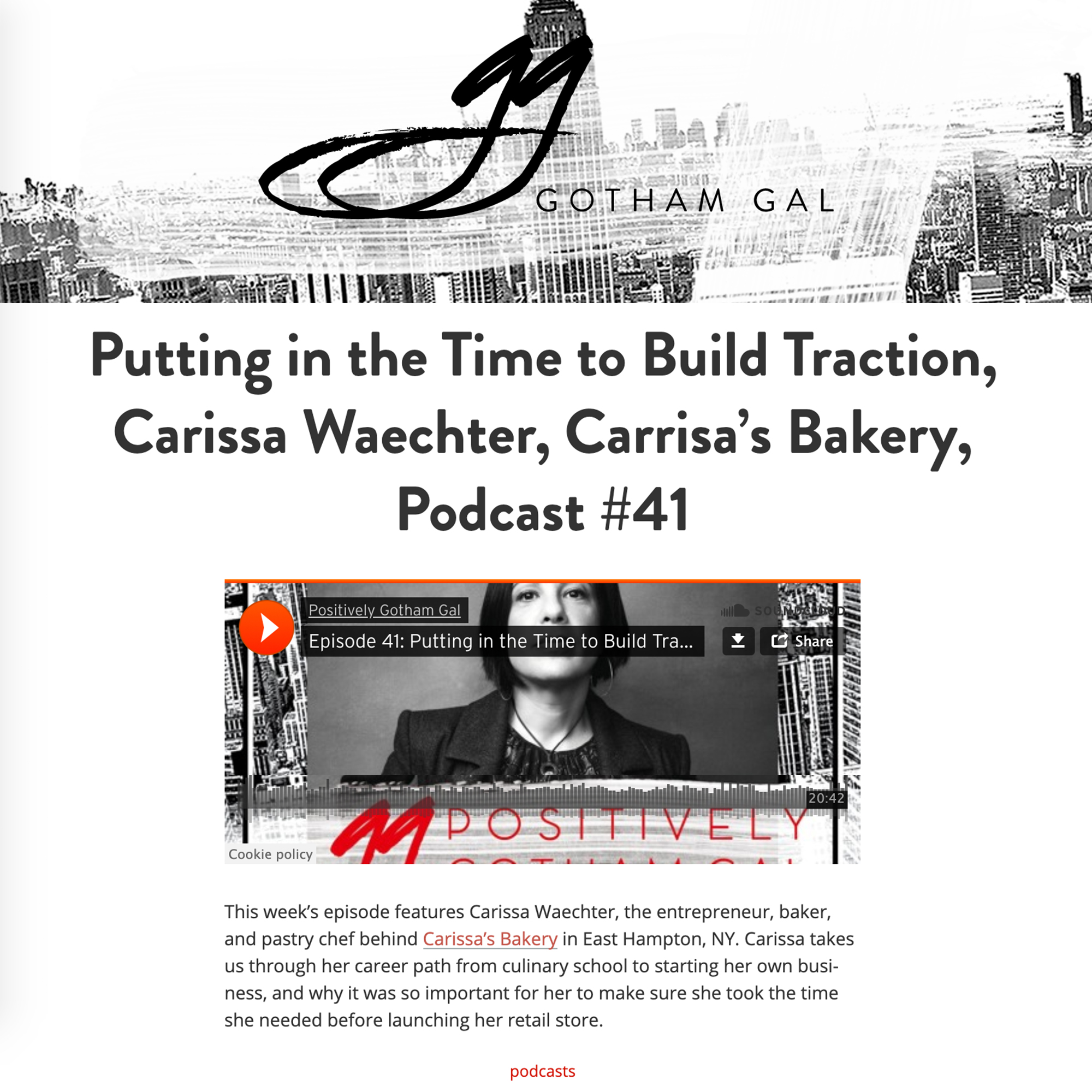 Gotham Gal Podcast