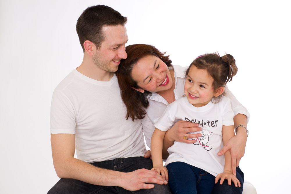 Family Photo Session in studio