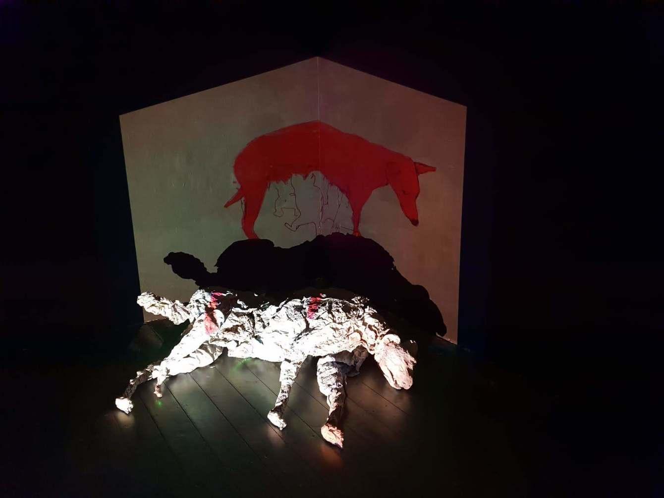 Breastfeeding, installation, collaboration with Omer
