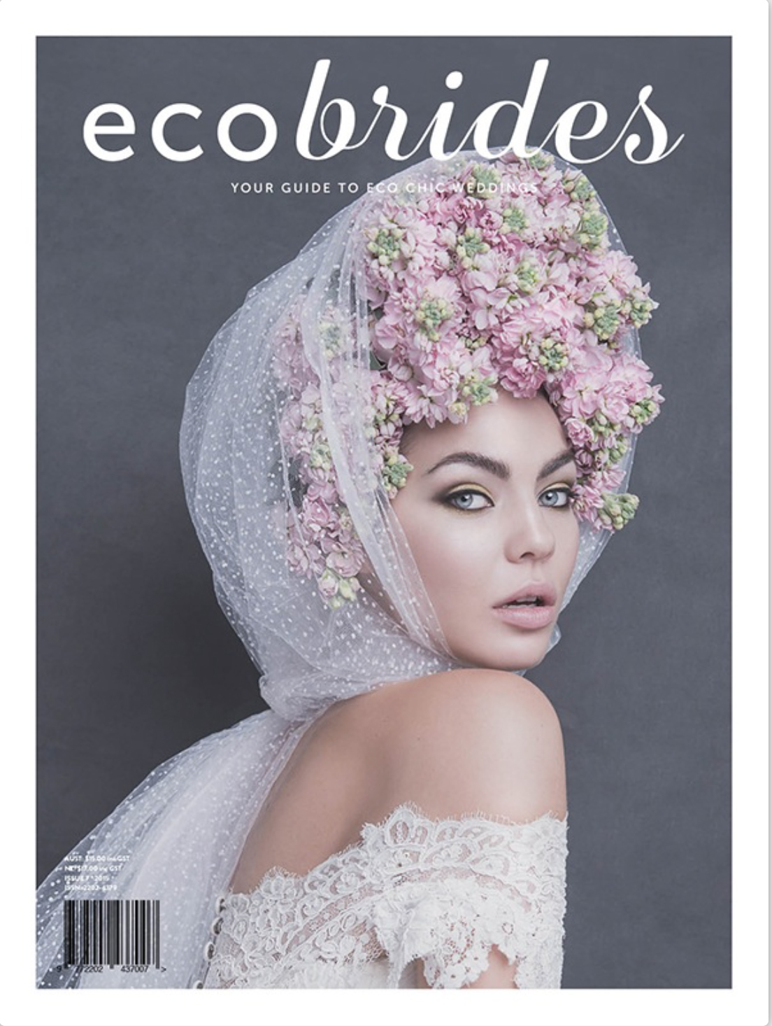 ODE TO MOTHER NATURE for ECOBRIDES Magazine Photography Carmen Rose Stylist Penny Adams Hair by Deanne Makeup Efi Tzagarakis