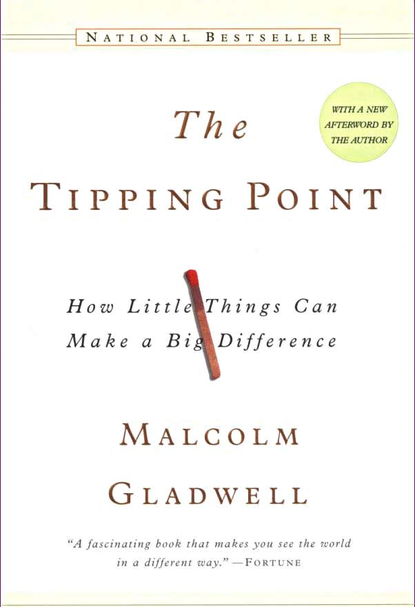 The Tipping Point -Malcolm Gladwell - This book makes you see the world in a different way and how to harness and fuel energy into something meaningful.