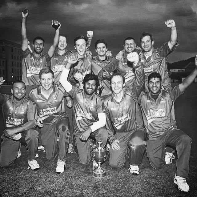 2015 T20 champion celebrating