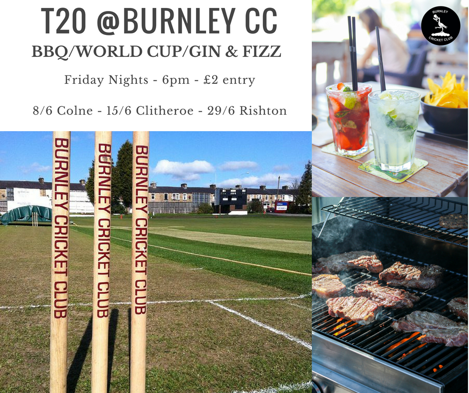 T20 group game internet poster at burnley cricket club