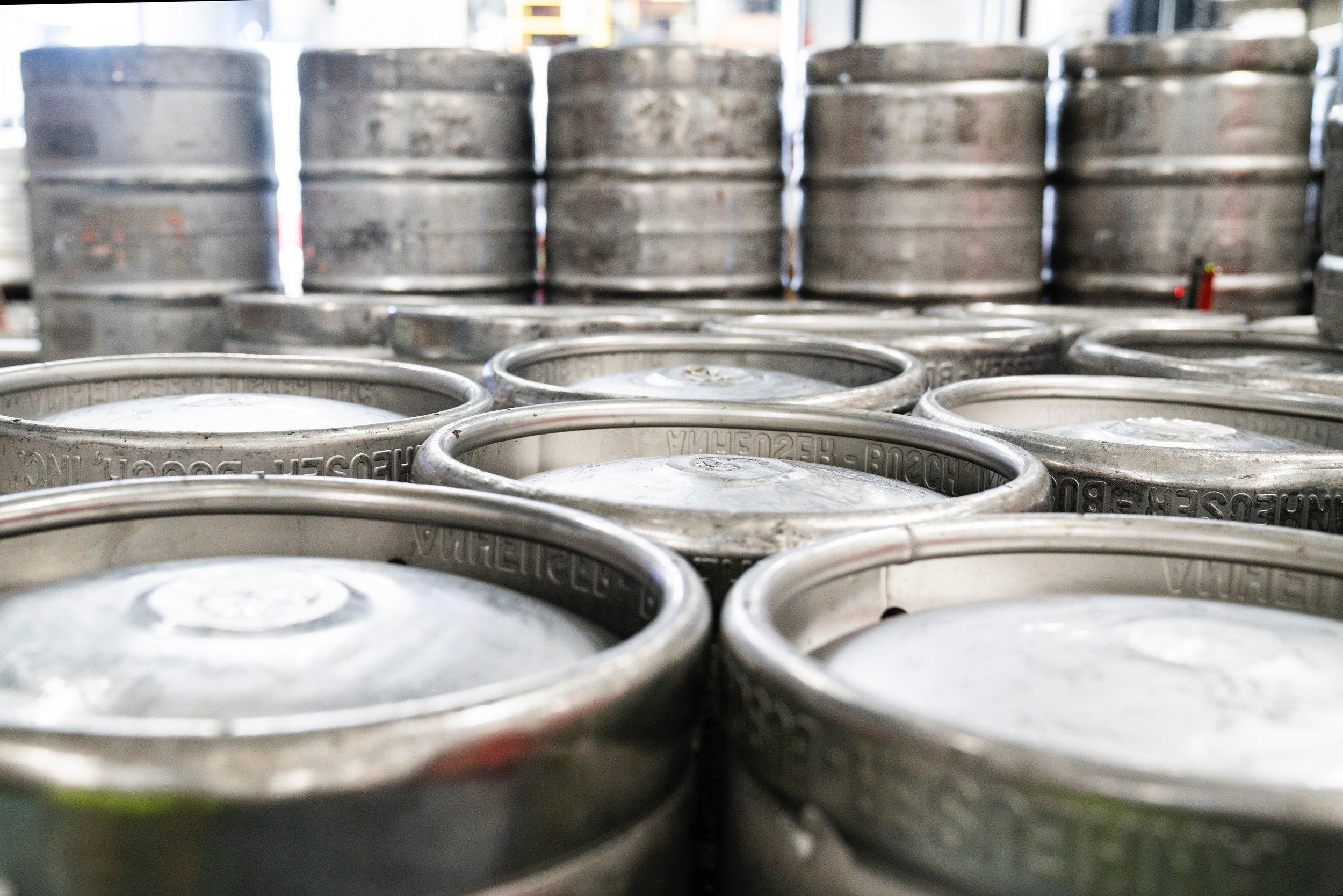 beer barrels at burnley cricket club ale festival