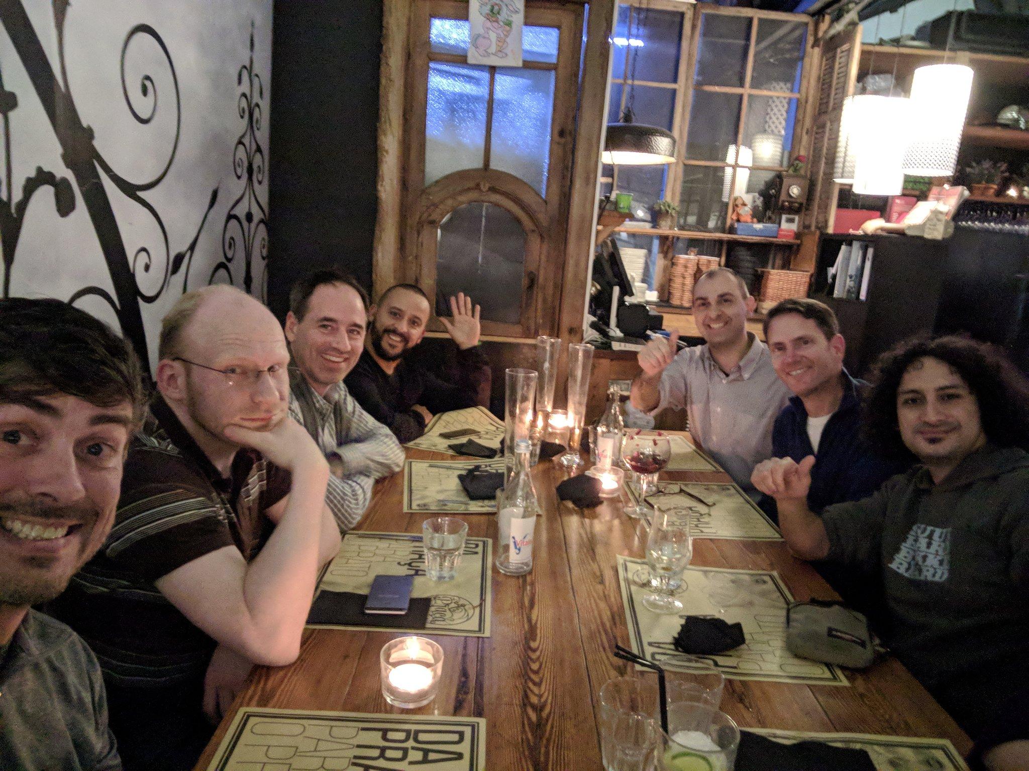 Nathan McMinn ,  Axel Faust ,  Jim Toronto , Luis Cabaceira , PJ,  Jeff Potts  and  Boriss Mejias .  Thanks  Nathan for this epic shot!