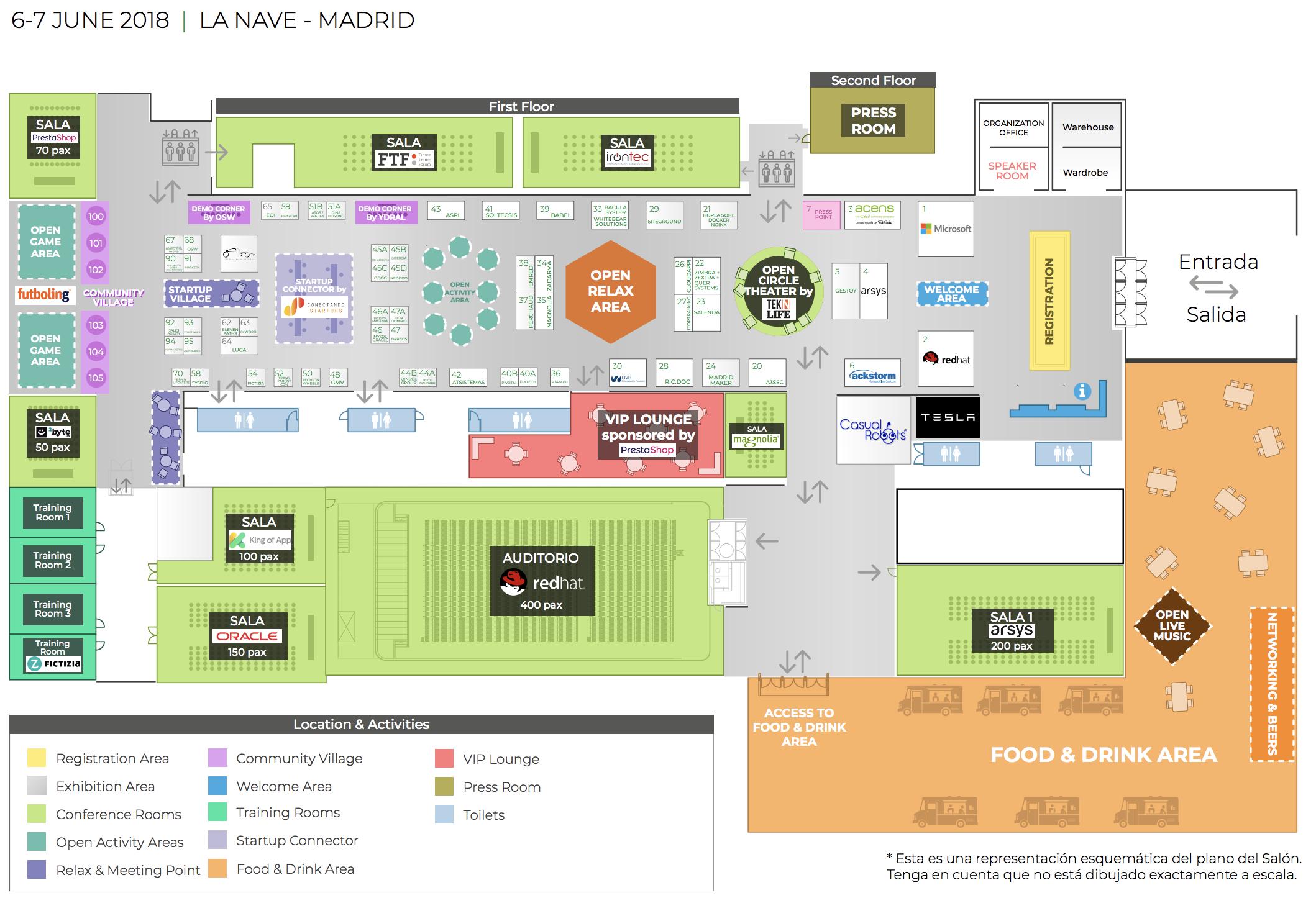OpenExpo Europe 2018 - Conference Floor Plan