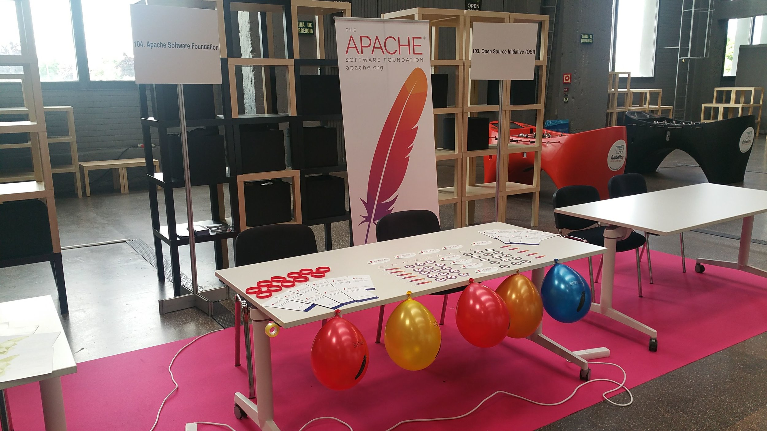 Apache booth at OpenExpo Europe 2018 in Madrid