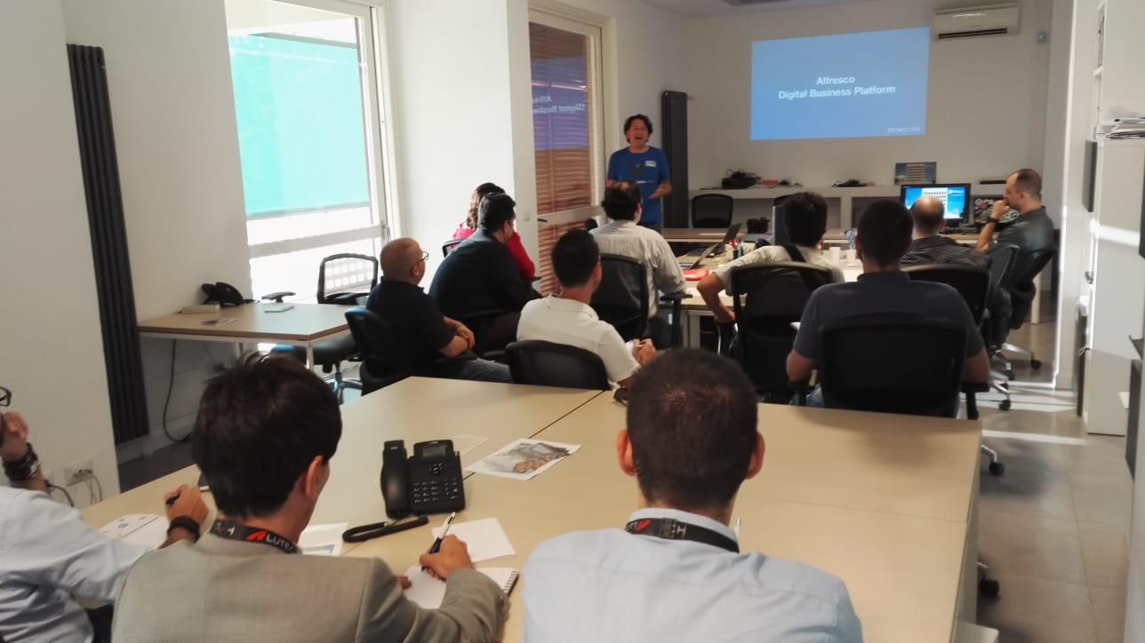 Francesco Corti  speaking about ADF.