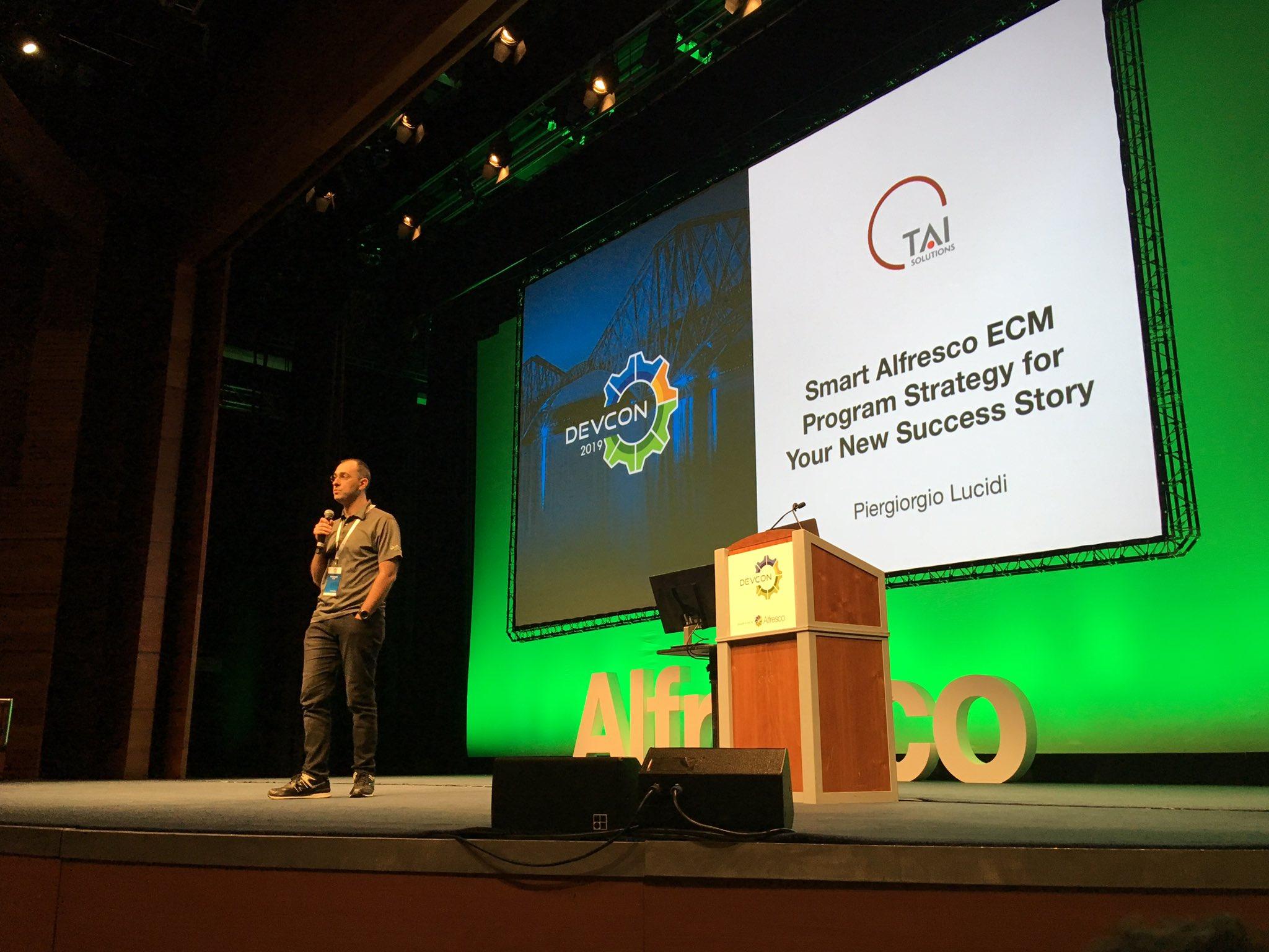 Me talking about ECM Program Strategy - 2