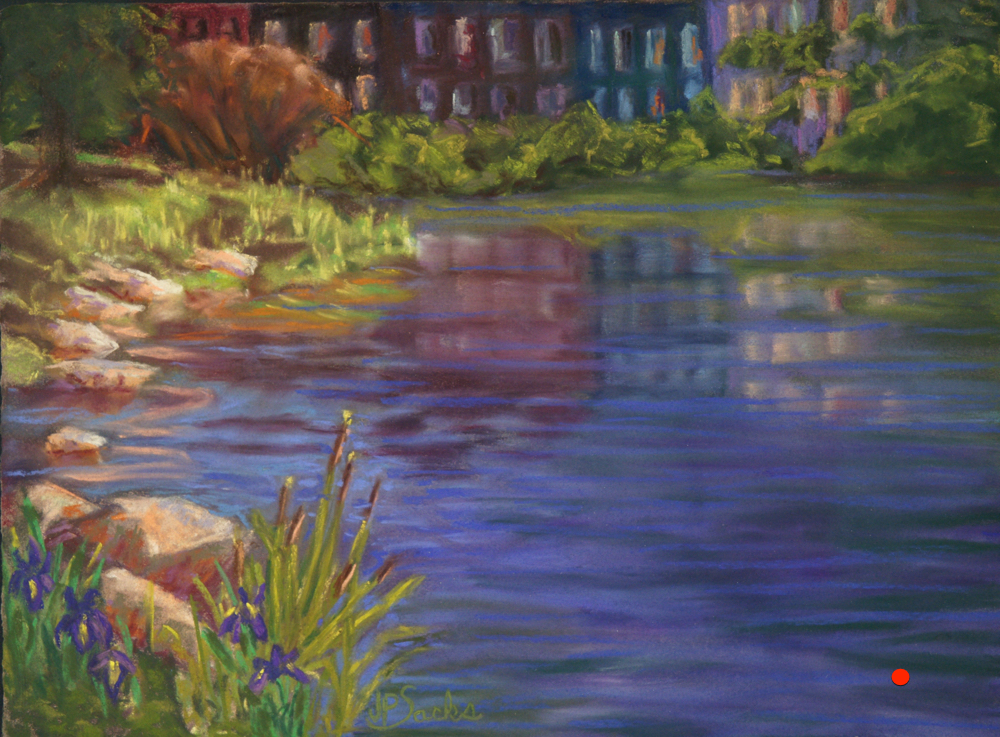 Oasis In The City, Pastel, 11x15, SOLD