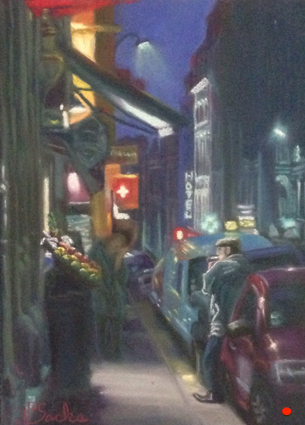 Paris, The City Of Lights, Pastel, 18Hx15W, SOLD