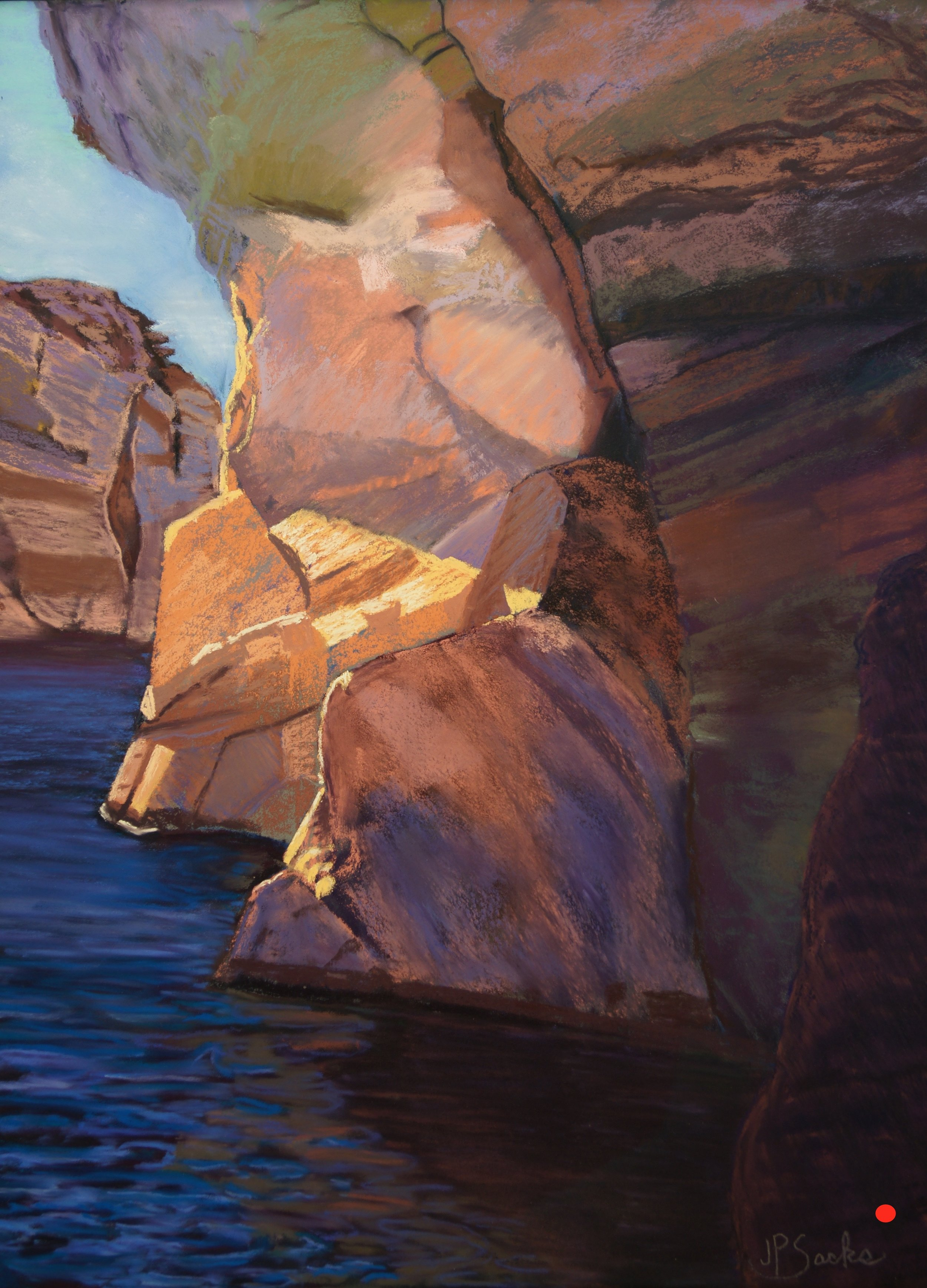 Lake Powell Patina, Pastel, 24Hx19W, SOLD