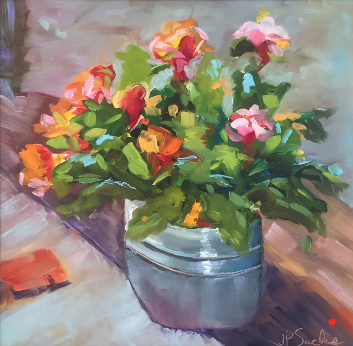 Canned Flowers, Oil, 12Hx12W, SOLD