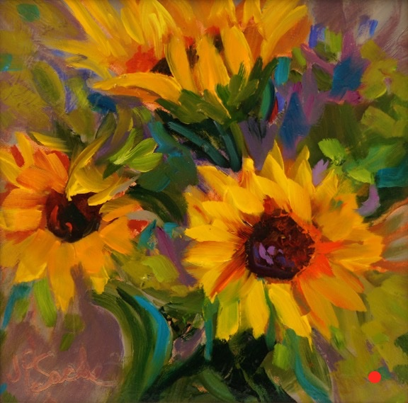 Sunflower Glow, Oil, 8Hx10W, SOLD