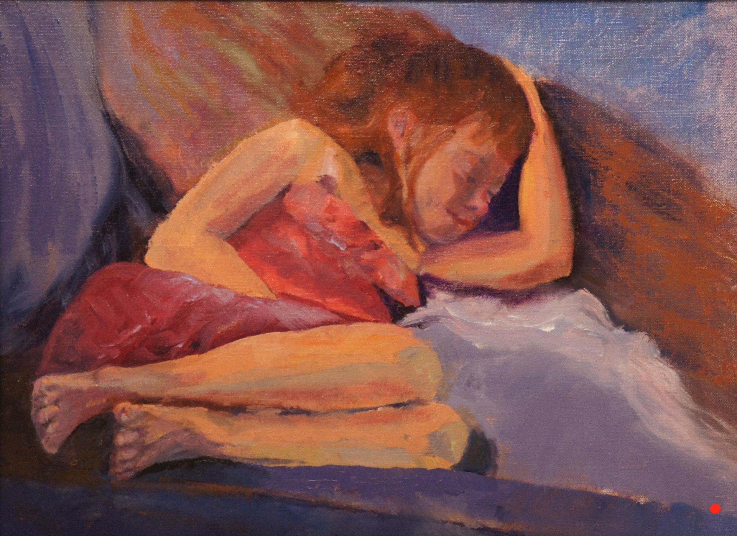 Napping Nicole, Oil, 9Hx12W, SOLD