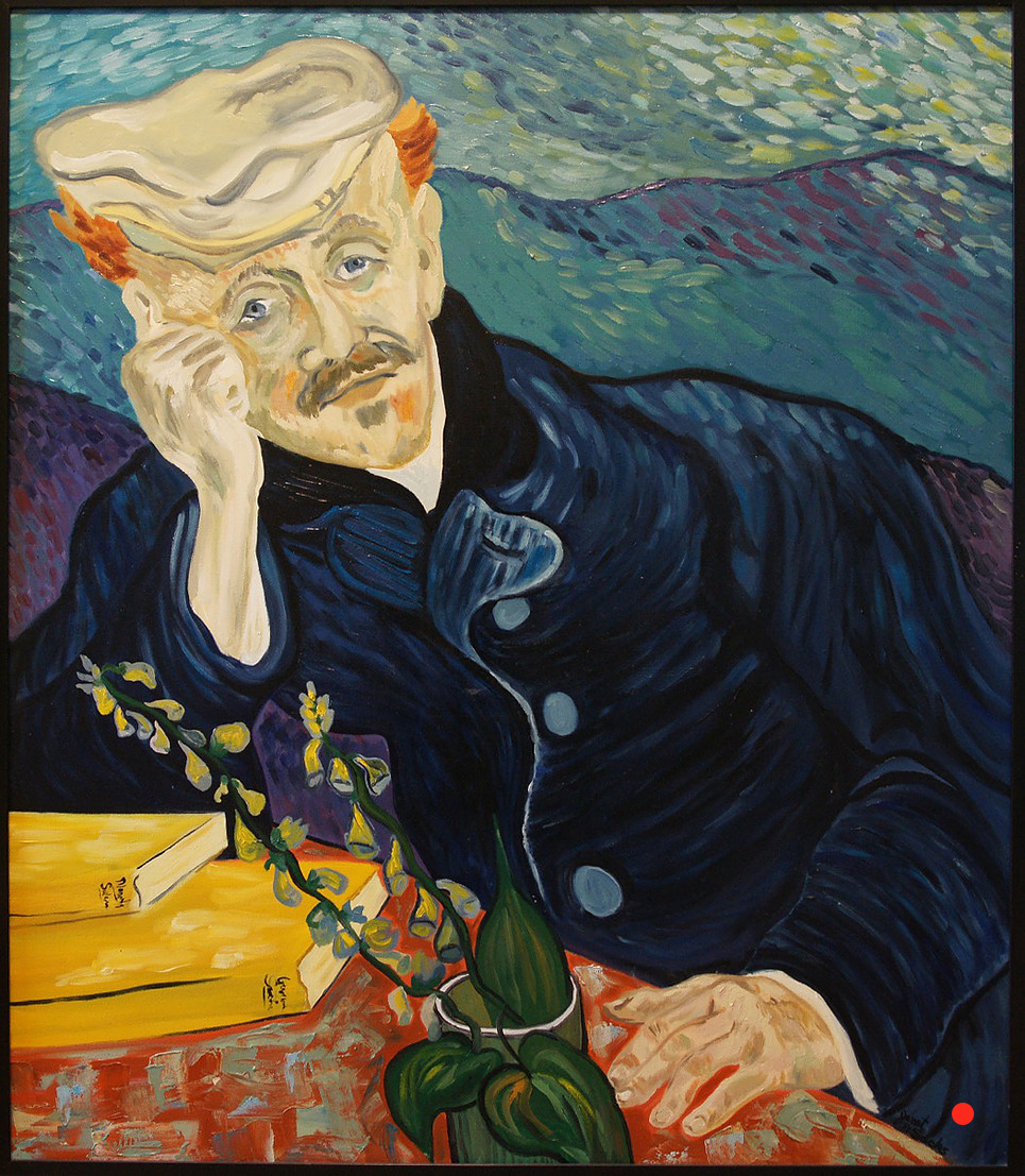 Dr. Gachet After Van Gogh, Oil, 36Hx30W, SOLD