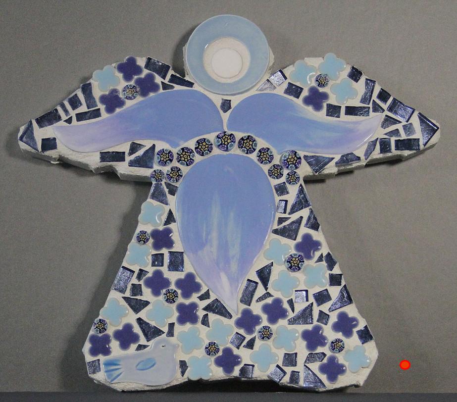 Angel Blue, Mosaic, 8Hx6W, SOLD