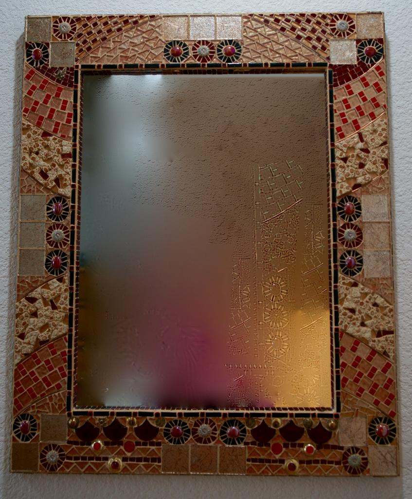 Custom Mirror, Mosaic, 36Hx30W, Range $700-$1,000