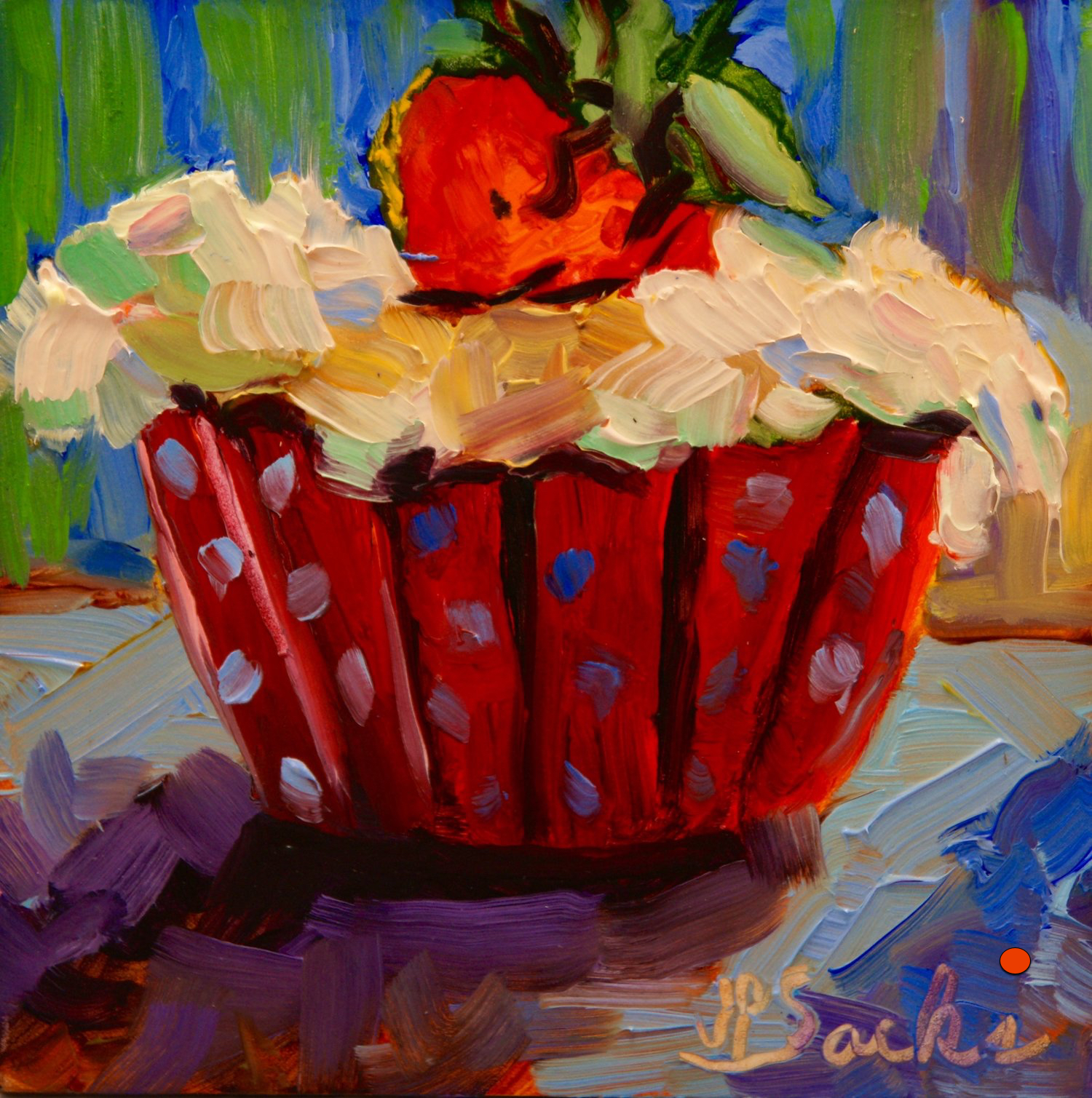 Fresh Fruit, Oil, 5Hx5W, SOLD
