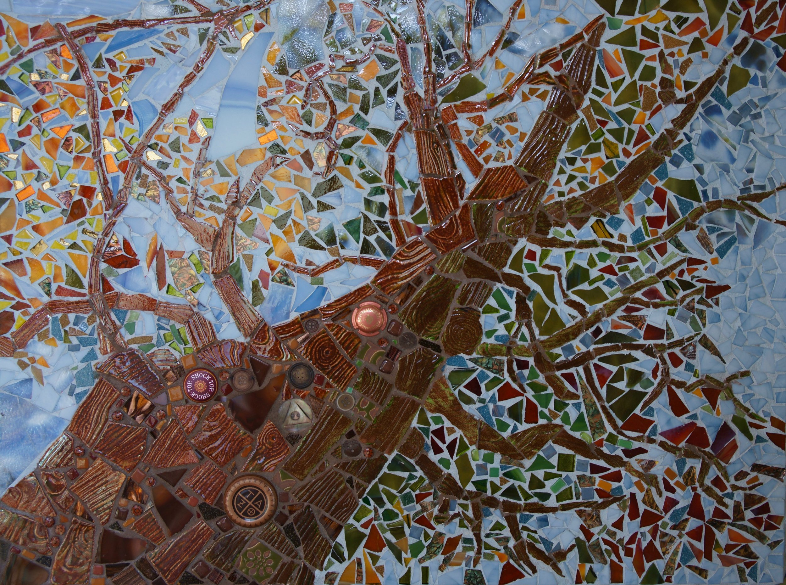 Old Growth at Ghost Ranch, Mosaic, 18.5 H x 24.75 W, $995, Framed