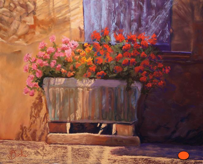 Fleurs de Francais, Pastel, 21Hx25W, SOLD