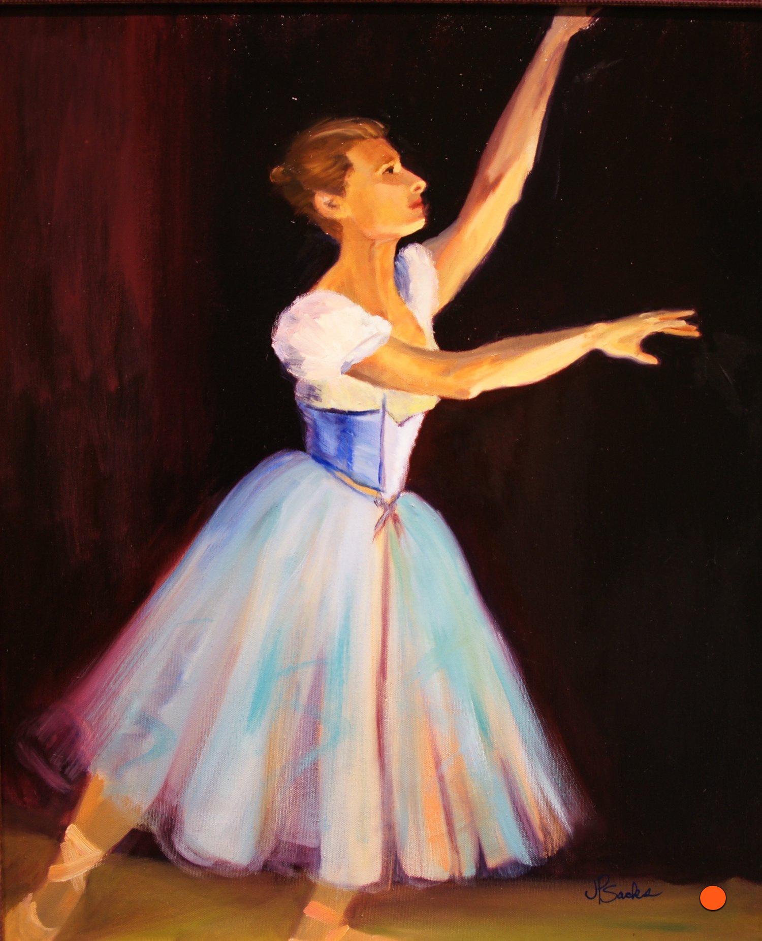 Baryshnikov's Prima Ballerina, Oil, 24Hx20W, SOLD
