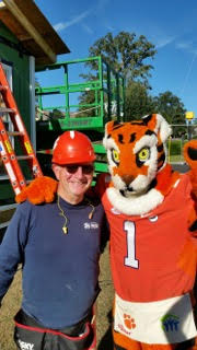 Augie Tortora and the Clemson Tiger. Go Tigers!