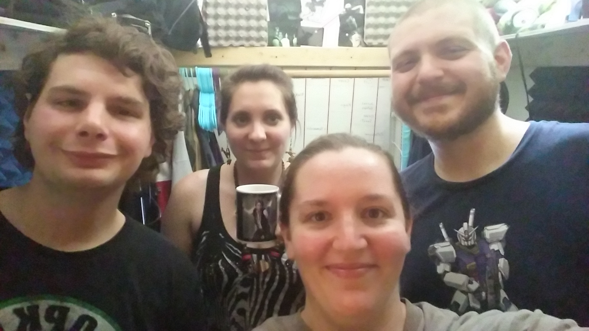 This picture was taken some time around when we would have recorded this episode in July/August. It was hot and we all looked pretty gross afterwards.