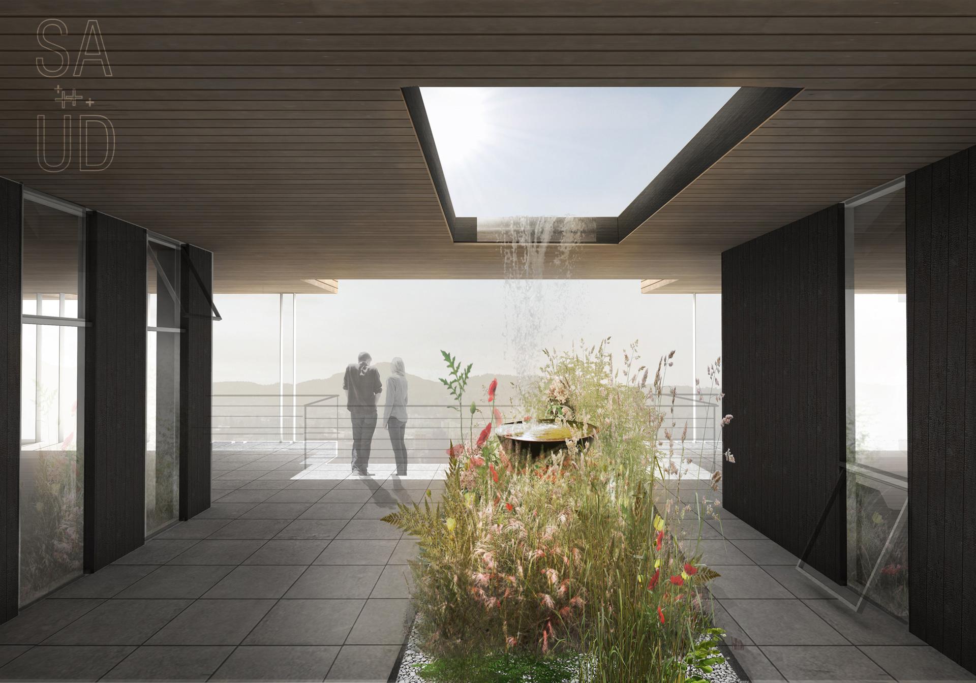 Third floor community garden