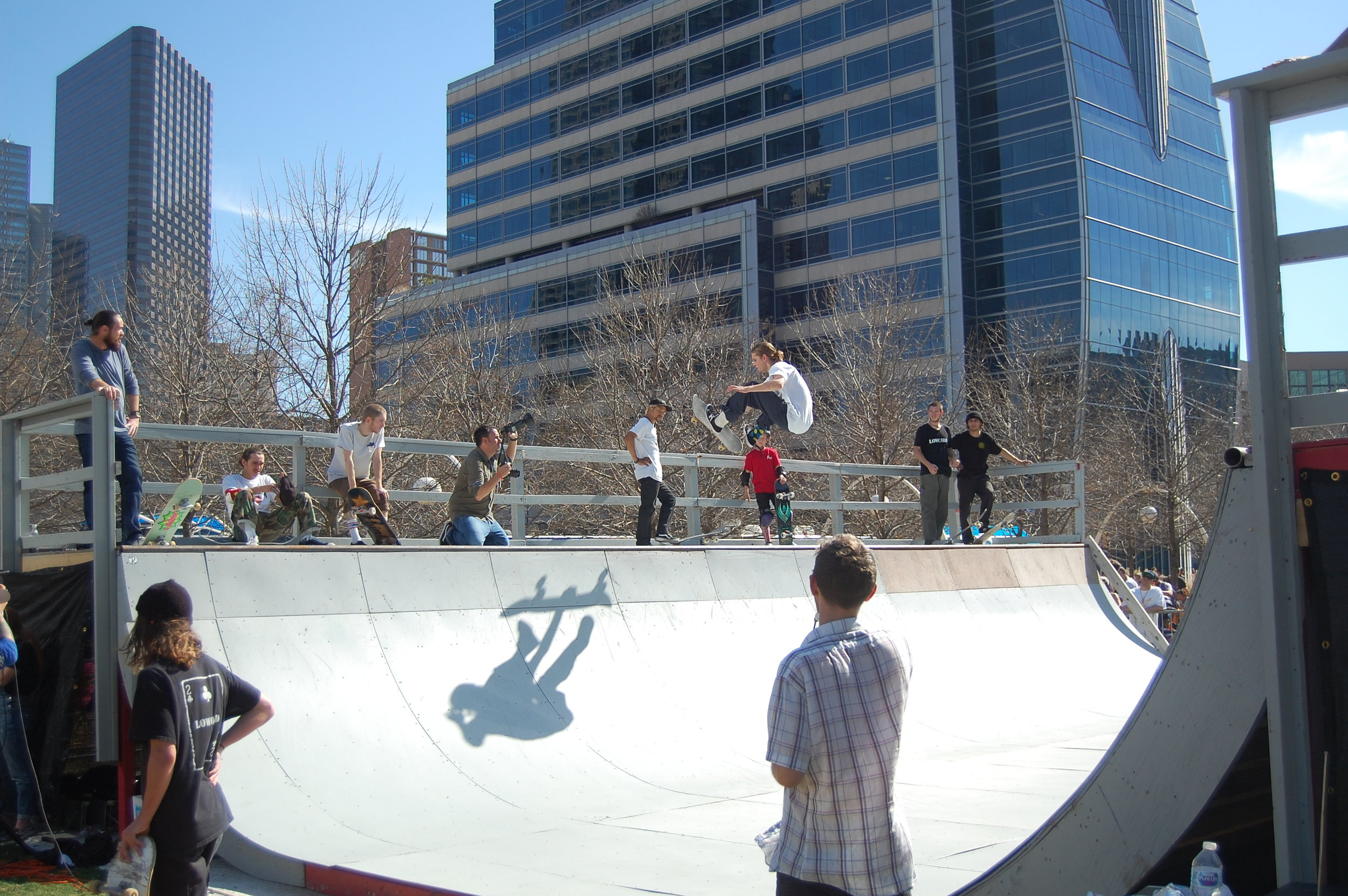 Downtown Dallas Skateboarding